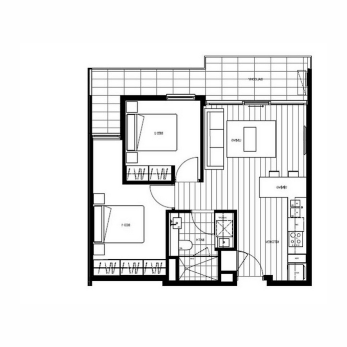 Furnished 2 Bed/1 Bath Apartment