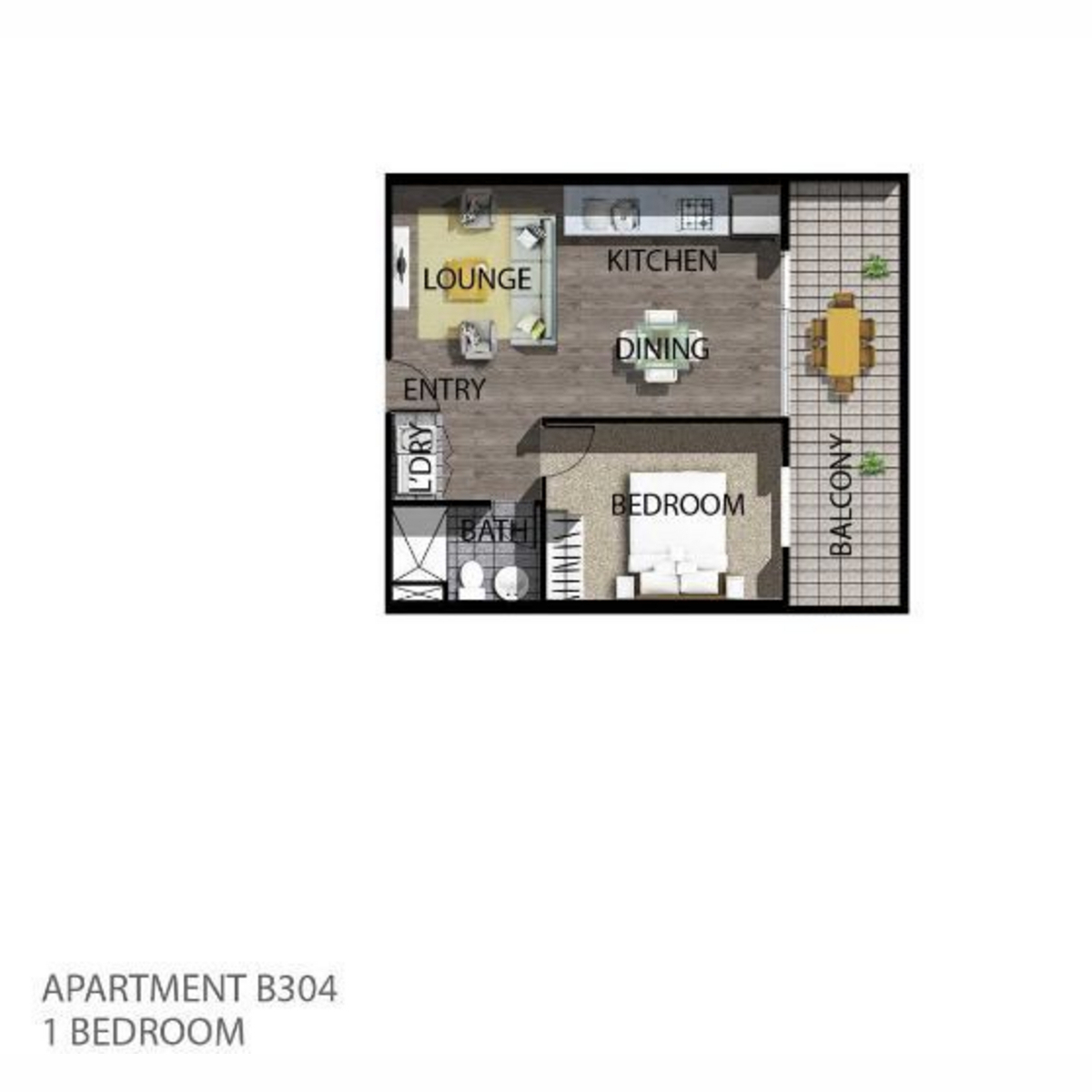 One Bedroom Modern Apartment