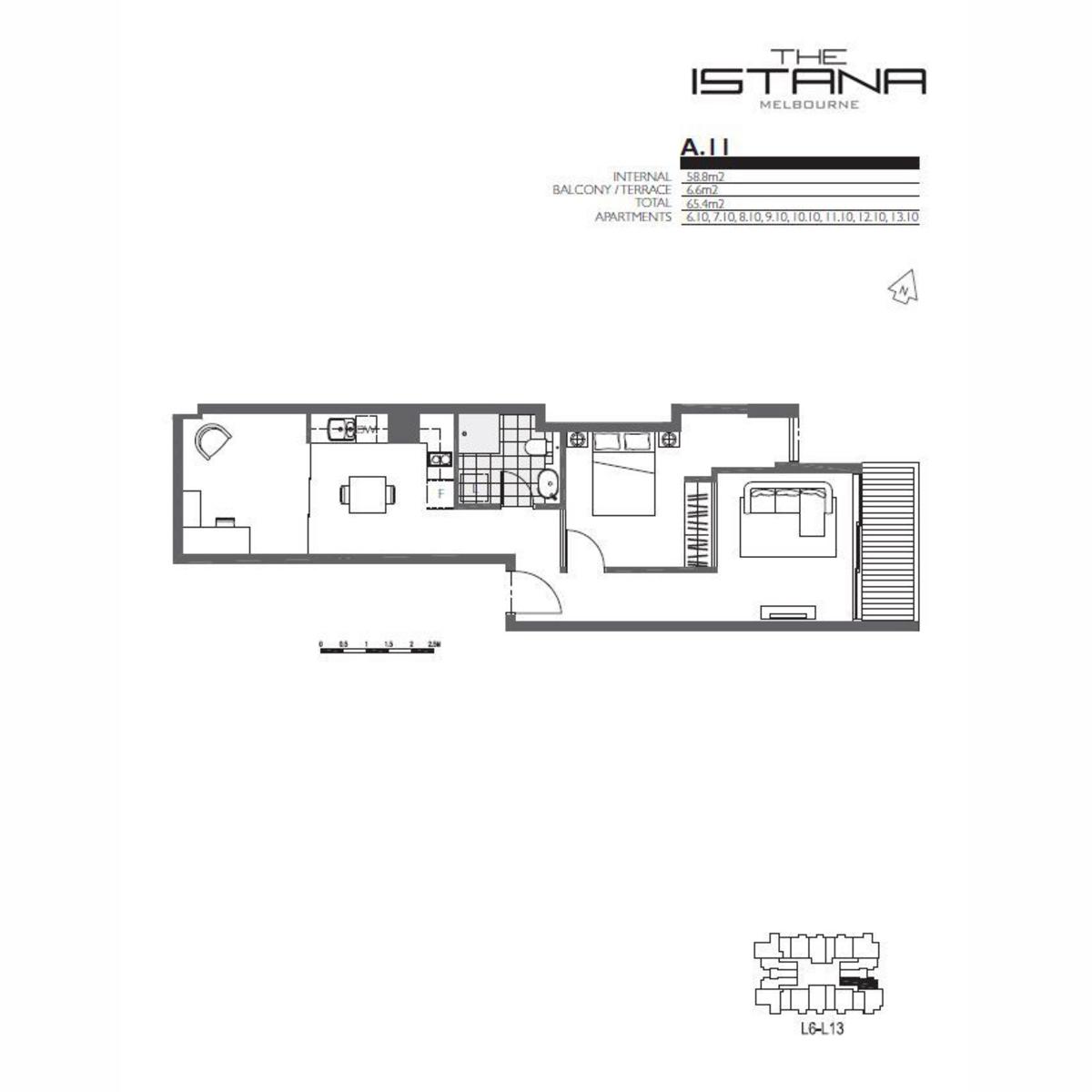Wonderful 1 Bedroom + Study Apartment